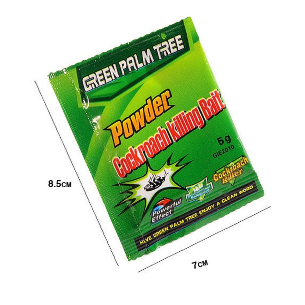 10 пакетов зеленый лист порошок таракан репеллент таракан приманка убийца ловушка вредитель борьба эффективный таракан убийство для кухни