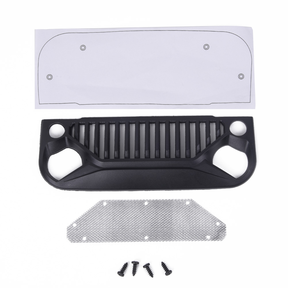 Air Inlet Grille Front Face For Jeep Wrangler 1/10 RC Rock Crawler Axial SCX10