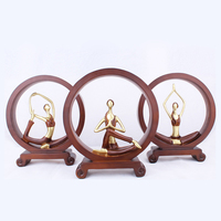 Yoga Girl Figurines Ornaments Home Decoration Girl Sculpture Living Room Desktop TV Cabinet Decor Accessories Miniature Model