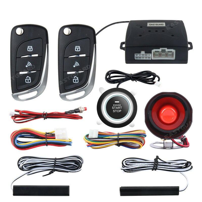 Multifonction PKE voiture sécurité Anti-vol alarme verrouillage Central système d'entrée sans clé avec bouton poussoir à distance moteur démarrage arrêt Kit