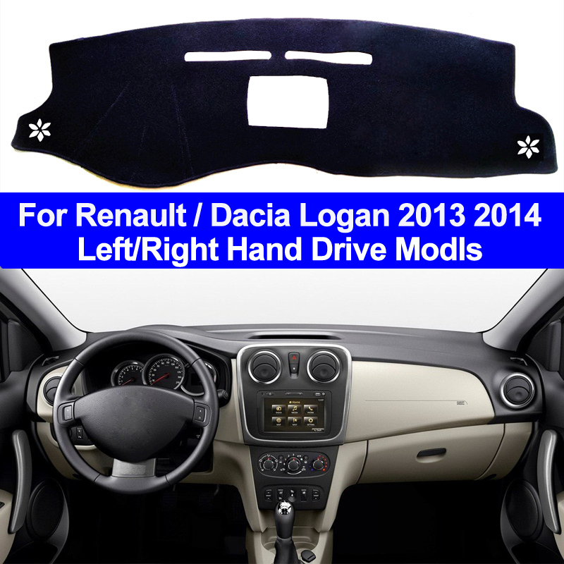 Car Inner Auto Dashboard Cover Dashmat Pad Carpet Dash Mat Cushion 2 Layers For Renault Dacia Logan 2013 2014 DaciaLogan