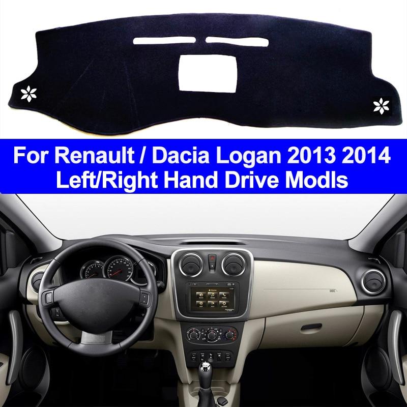 Car Inner Auto Dashboard Cover Dashmat Pad Carpet Dash Mat Cushion 2 Layers For Renault Dacia Logan 2013 2014 DaciaLogan