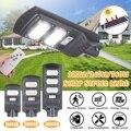 Smuxi 32000LM 120 Вт/240 Вт/360 Вт Солнечный уличный светильник 150/300/450 светодиодная серая уличная лампа высокой яркости датчик движения Дистанционное ...