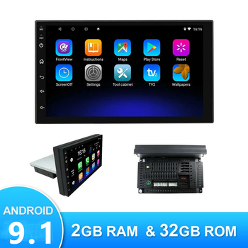 JOYINCAR Single 1 Din Android 9.0 Car Radio 1din GPS WIFI 4 Core Stereo Autoradio 7 Inch Bluetooth Video Multimedia MP5 Player image