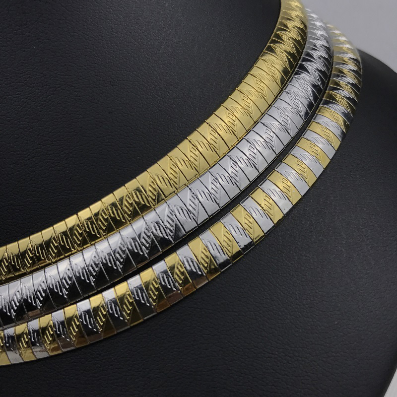 Fashion Collar Necklace Stainless Steel Chokers Torques Snake Chain Women Jewelry Gifts 4-8MM