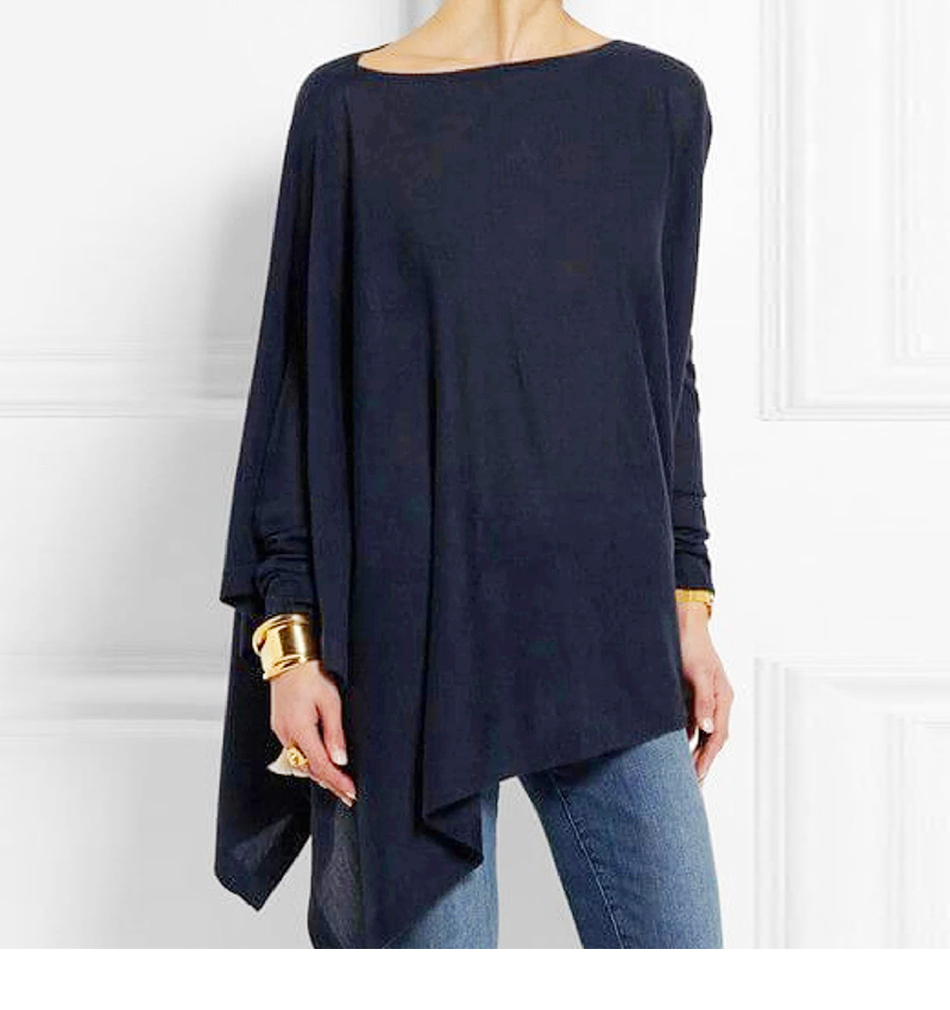 Cotton Irregular Womens Tops And Blouses Casual O Neck Long Sleeve Top Female Tunic 2019 Autumn Spring Plus Size Women's Blouse H3b4e40c90d5946578a3040a972dcffacf