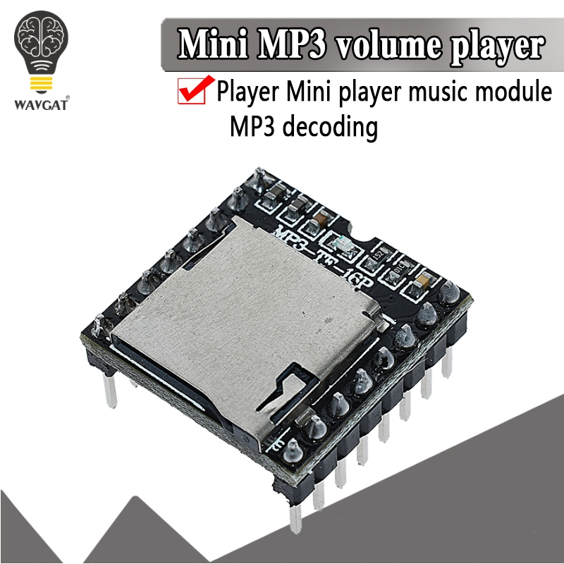 Мини модуль MP3 плеера tf карта u диск мини mp3 плеер аудио голосовой модуль плата для Arduino DF Play оптовая продажа|audio module|mp3 boardboard module | АлиЭкспресс