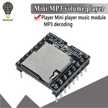 Mini mp3 player módulo tf cartão u disco mini mp3 player de áudio placa do módulo de voz para arduino df jogar por atacado