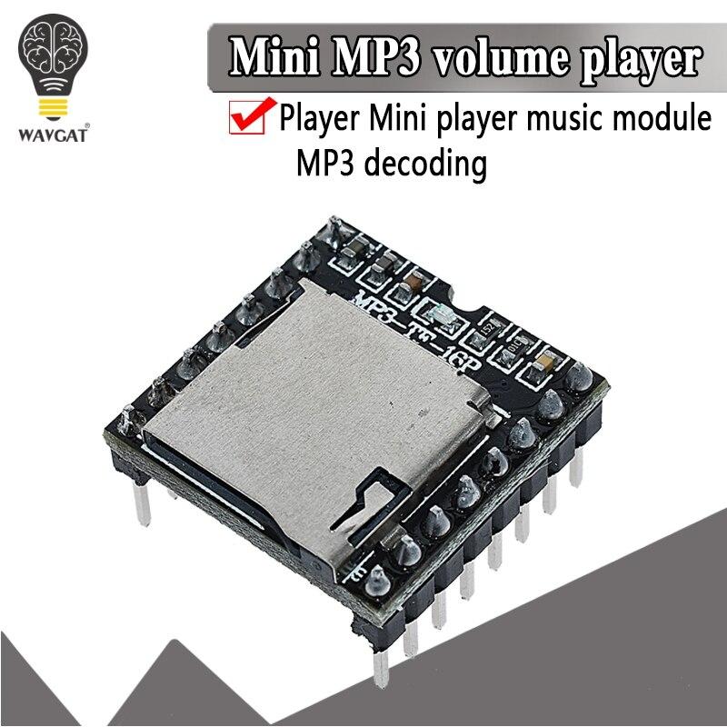 Mini mp3 player módulo tf cartão u disco mini mp3 player de áudio placa do módulo de voz para arduino df jogar por atacado