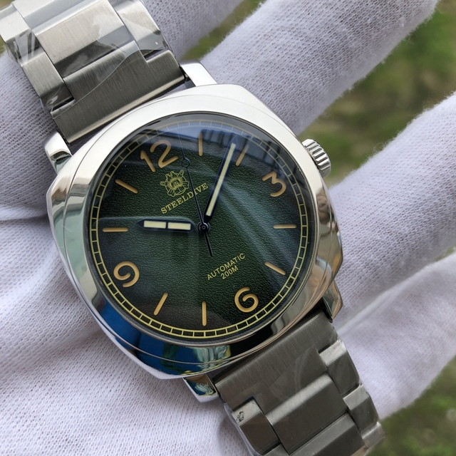 SteelDive 1938 NH35 Sapphire Automatic Mechanical Watch C3 Super Luminous Steel Dive Watches Men 200m NH35 Mechanical Watch Men