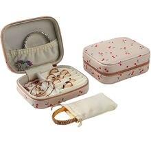 Portable Zipper Organizer Earrings Rings Jewelry Box