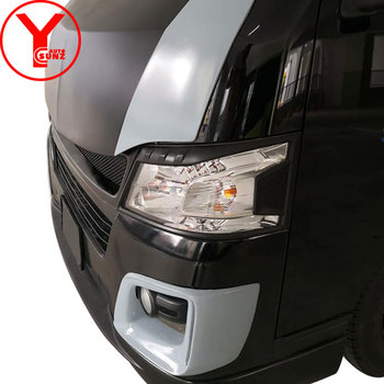 YCSUNZ ABS black head light cover accessories headlight parts car styling For nissan urvan Caravan nv350 e26 2016 2017 2018
