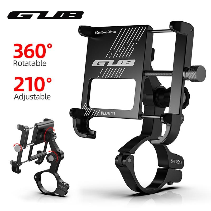 GUB PLUS 11 вращающийся велосипедный держатель для телефона 3,5-6,8 дюймов для смартфона, регулируемый для MTB шоссейного велосипеда, мотоцикла, эле...
