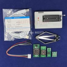 جهاز برمجة إصدار أسود V10.27 XGecu TL866II Plus USB 15000 + IC SPI Flash NAND EEPROM MCU PIC AVR + محول 4 قطعة + جهاز استخراج PLCC