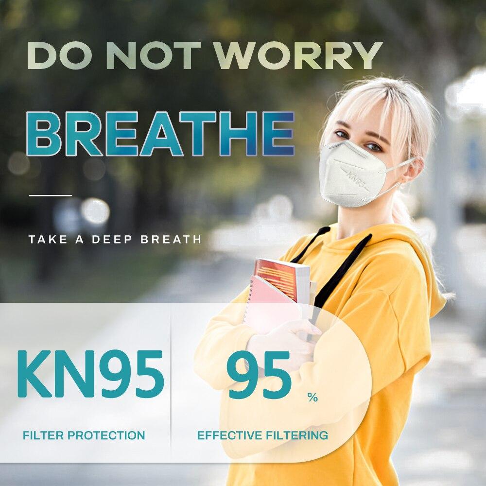 KN95 Mask Protective Dust Face Mask FFP2 KN95 Masks reusable Respirator Flu Pm2.5 Month Filter Mask 2