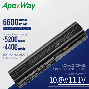 цена на Apexway 6 Cells Laptop Battery For HP Pavilion DV4 DV5 dv6-1100 Series Batteria HSTNN-IB72 HSTNN-LB72 HSTNN-LB73 HSTNN-XB73