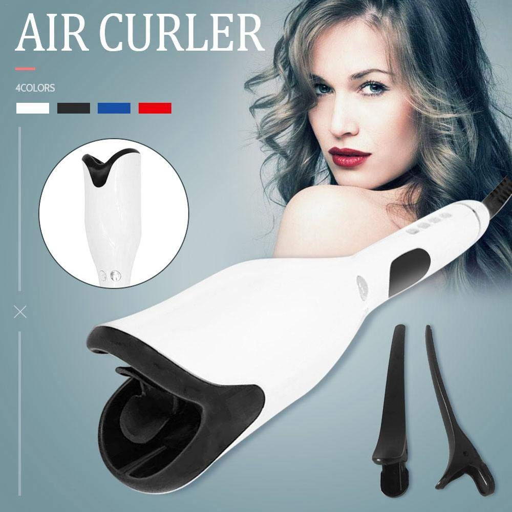 Dropshipping Titanium Salon Hair Styling 1 Inch Automatic Curling Iron Air Curler Wand Curl Rotating Magic Hair Curling Iron