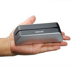 Устройство для чтения магнитных карт Deftun MSR X6 без bluetooth USB, совместимо с msr605X msr x6bt msrx6bt