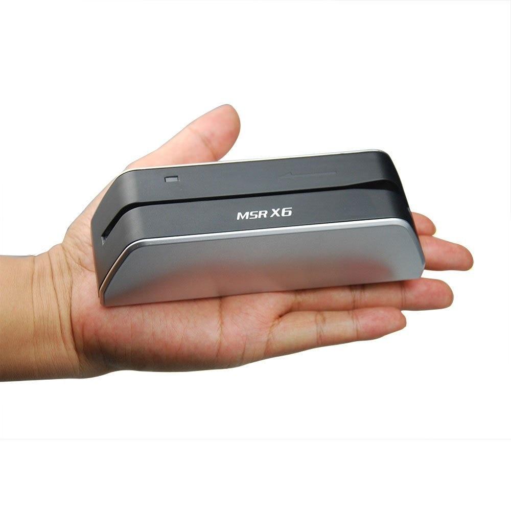 Deftun MSR X6 Without Bluetooth USB Magnetic Card Reader Writer MSRX6 Compatible With Msr605X Msr X6bt Msrx6bt