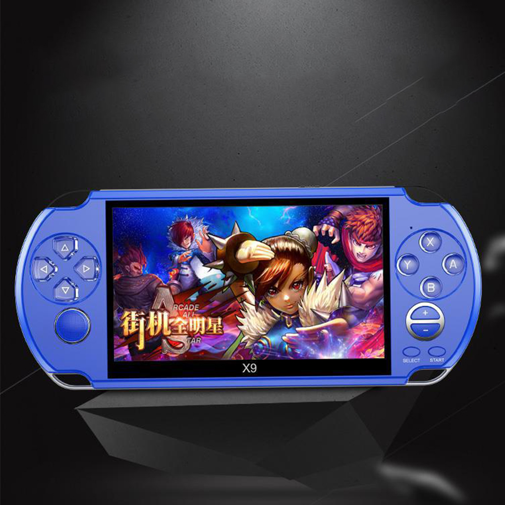 LCD Display Music Camera Rechargeable 5.1 Inch Movies Gift Handheld Game Console Player Kids Video