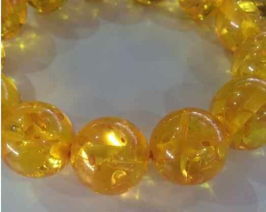 Yy807>>>> syntetyczny wosk pszczeli bursztynowe bransoletki koralik bursztynowe bransoletki