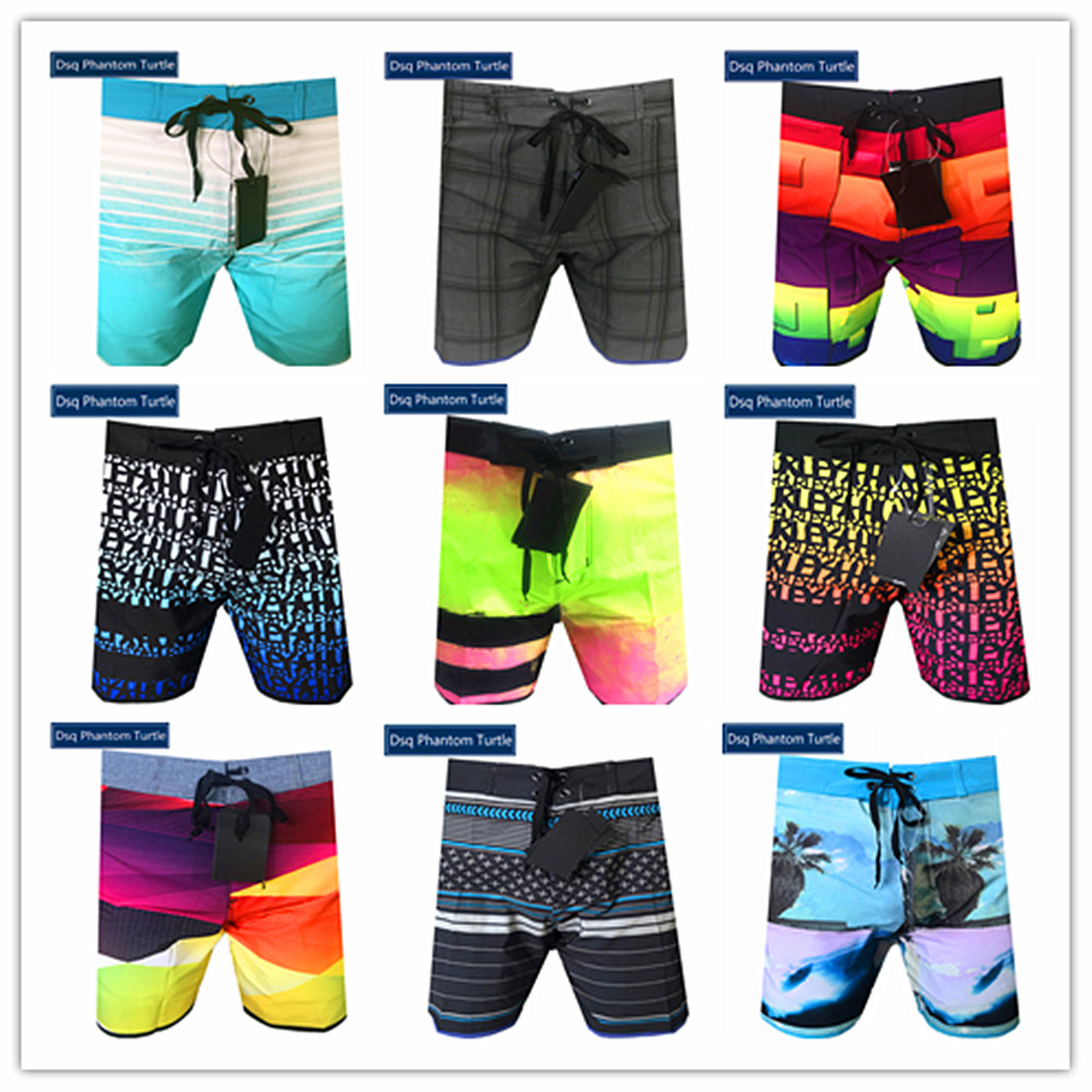 2020 Bermuda Brand Men Hawaiian Elastic Board Shorts Dsq Phantom Turtle Beach Man Spandex Swimwear 100% Quick Dry Big Size 30-38