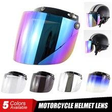Flight Helmet Moto Retro Vintage Visor Cascos Windshield Open-Face Capacete 3-Snap Para