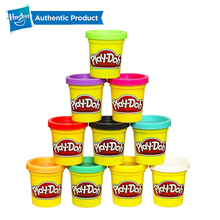 Hasbro Play-Doh Pack Rainbow Non-Toxic Modeling Compound Educational Toys Light Soft Modeling Clay DIY Kids Toys hasbro play doh tootie the unicorn ice cream set with 3 non toxic colors featuring play doh color swirl compound