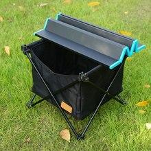 Невидимая карманная Сетчатая Сумка для хранения, складные Аксессуары для стола, портативная ткань Оксфорд, для отдыха на природе, большая емкость для пикника, сетка