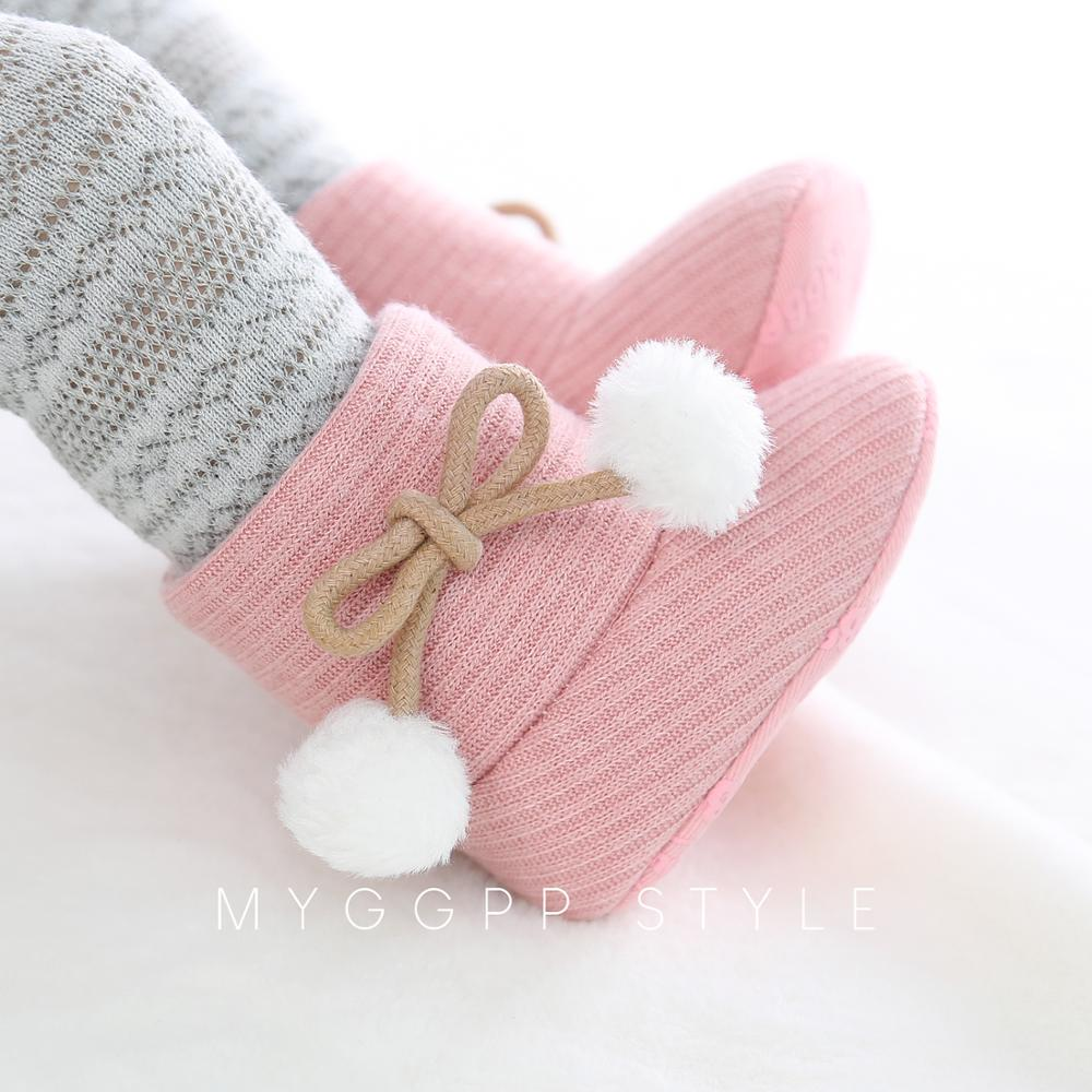 Autumn Baby Girl Boy First Walkers Cotton Boots Casual Cartoon Shoes Newborn Cute Non-slip Soft Sole Shoe