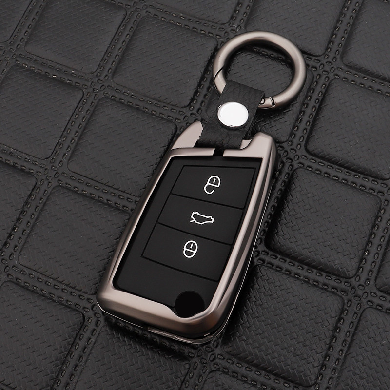 Car Fashion Key Case Cover Key Bag For Volkswagen VW Golf 7 Mk7 Skoda Octavia A7 Key Portect Case Car-styling Auto Part Keychain