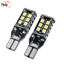 YOLU 1pcs Car LED Reversing Lights T15 W16W 4014 45SMD Automotive Turn Signals Backup Day Running Lamp