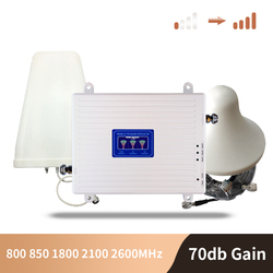 2G 3G 4G 850 800 900 1800 2100 2600Mhz Mobiele Telefoon Booster Band Mobiele Signaal Versterker lte Cellulaire Repeater Gsm Dcs Wcdma