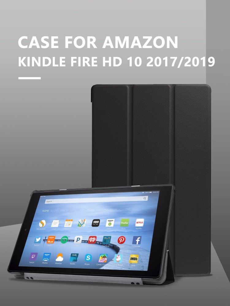 Ultra Slim <font><b>Case</b></font> for Amazon <font><b>Fire</b></font> <font><b>HD</b></font> <font><b>10</b></font> 2019 <font><b>case</b></font> for amazon kindle <font><b>fire</b></font> <font><b>10</b></font> 2017 Magnetic Stand PU Leather <font><b>10</b></font> inch Tablet Cover image