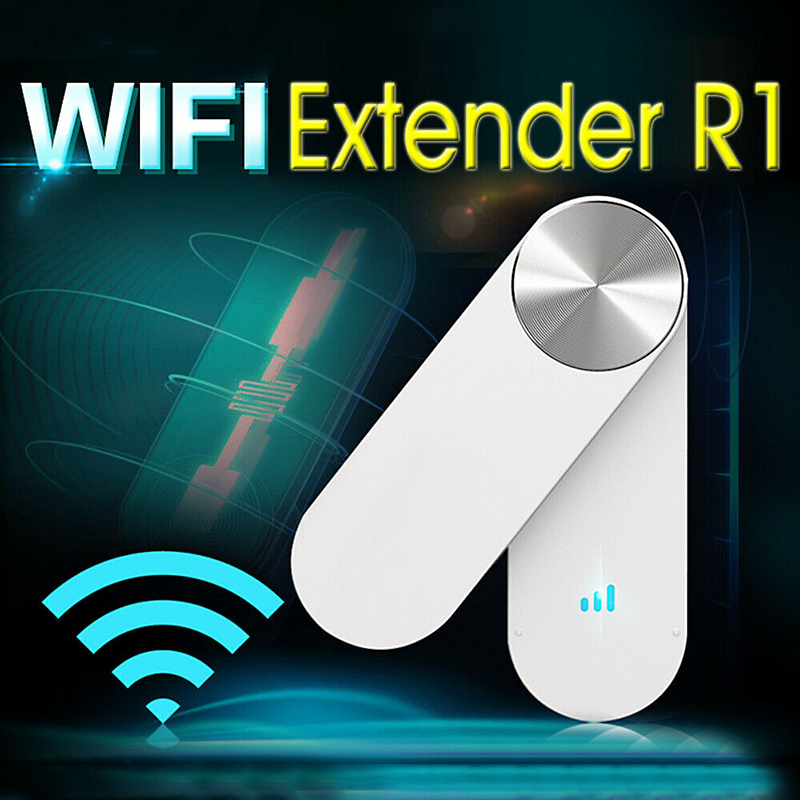 For Multiple Routers 1PC White Plastic R1 WiFi Extender Wireless Network Amplification Amplifier Repeater Signal Booster