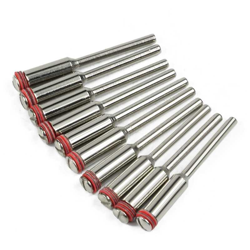 10 pièces/ensemble 3.0Mm poignée/acier vis mandrin tige Cutter-Off support accessoires rotatifs outils