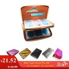 Soporte para placa de estampación para uñas, 216 ranuras, diseño láser arcoíris, Cuadrado redondo, Rectangular, plato organizador para manicura de uñas, estuche vacío