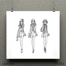 AZSG Stylish woman Clear Stamps/seal for DIY Scrapbooking/Card Making/Photo Album Decoration Supplies