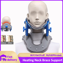 Neck Brace Heating Cervical Traction Cervical Stretching Device Neck Stretcher Support Relief Pain Medical Correction Collar
