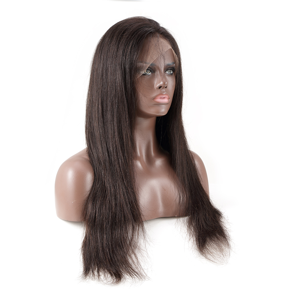 Luvin OneCut Hair Straight 360 Lace Frontal Wigs Pre Plucked With Baby Hair Brazilian Remy  Hair Lace Front Wigs For Black Women