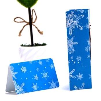 Hecho a mano 3D Pop Up Ice Castle Snowflake Deer tarjeta de felicitación de vacaciones Feliz Navidad regalo D08D