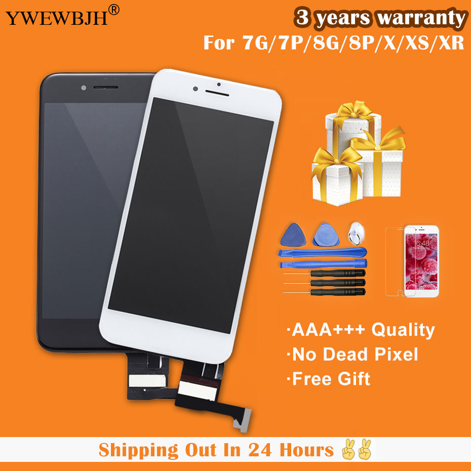 YWEWBJH Grade AAA LCD Display For iPhone 7 with 3D Touch Screen Digitizer Assembly Replacement Free Gift Free Shipping