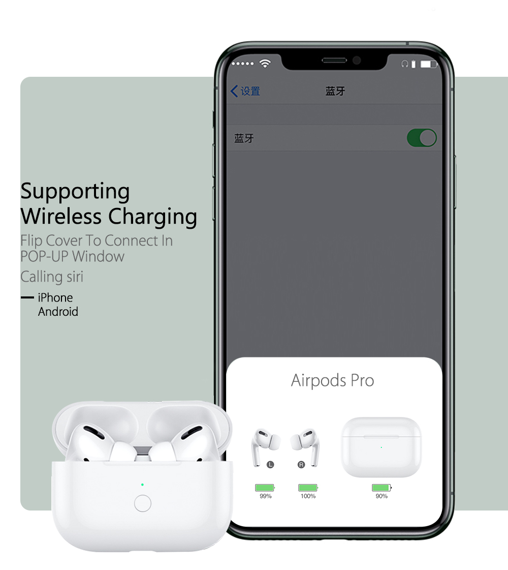 Qi Wireless Charging Case For Airpods Pro Box Case With Pairing