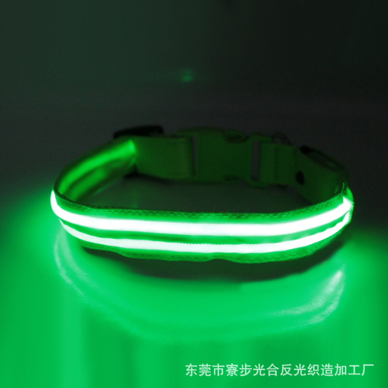 Pet Supplies Small, Medium And Large Night Light Dog Collar USB Charging LED Luminous Dog Collar