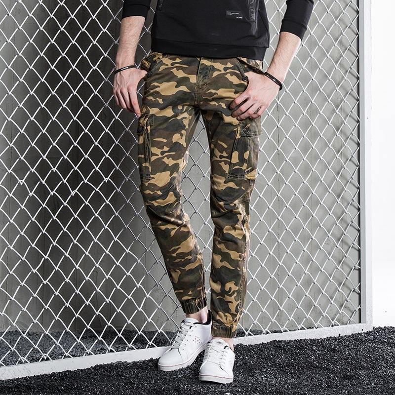 Brand Men'S Wear Multi-pockets Workwear Casual Pants Camouflage Pants Men's Loose-Fit Multi-pocket Military Trousers