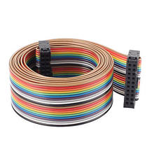 2.54mm Pitch 20 Pin 20 Way F/F Connector IDC Flat Rainbow Ribbon Cable 148cm(China)
