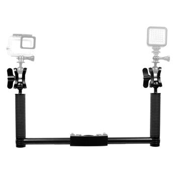 Dual Handheld Grip Bracket Kit Gimbal Extended Handle for Crane 2/2PRO Handheld Gimbal Stabilizers Mount Accessories