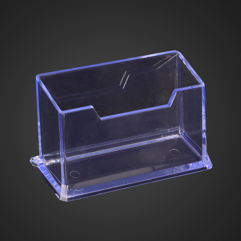 Fashion Acrylic Clear Desktop Business Card Holder Stand Display Dispenser Card Stand Holder Office Desk Accessories Organizer