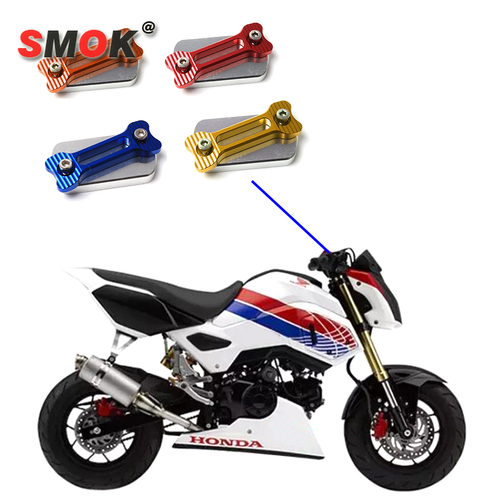 SMOK For Honda MSX 125 MSX125 Motorcycle Accessories CNC Aluminium Alloy Front Brake Fluid Reservoir Cap Cover