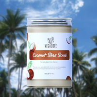 300ml Coconut Body Scrub Cream for Scrubber Exfoliating Scrub to Stay Body Wash Cleansing Whitening Cream & Shrink Pores. 2